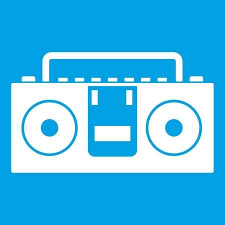 Vintage tape recorder icon white