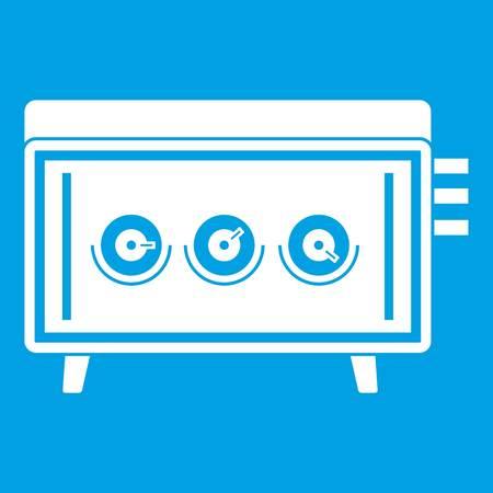 dvd player: CD changer icon white