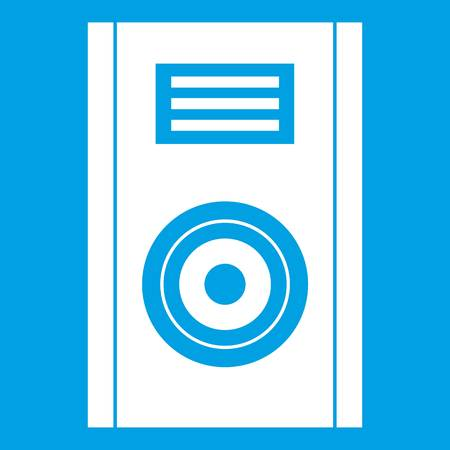 music: Music speaker icon white Illustration