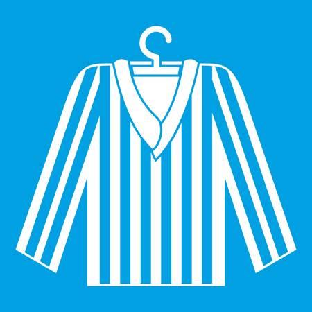 Striped pajama shirt icon white