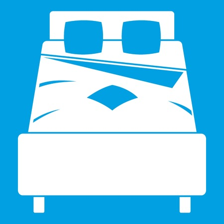 suite: Bed icon white Illustration