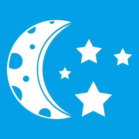 Starry night icon white