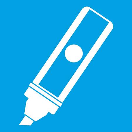 permanent: Permanent marker icon white Illustration