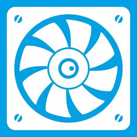 Computer fan icon white