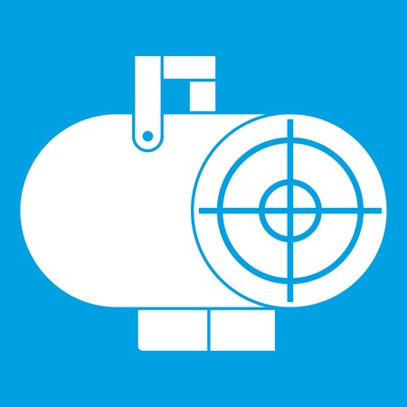 gun control: Industrial fan heater icon white