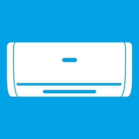 Internal unit air conditioner icon white