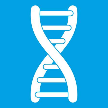 DNA strand icon white Illustration
