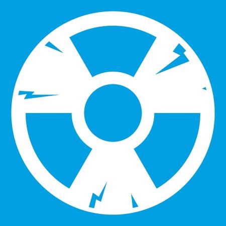 contamination: Radiation sign icon white
