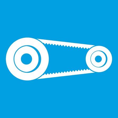 Mechanic belt icon white
