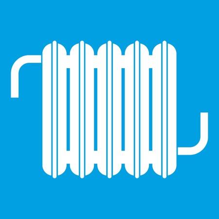 Radiator icon white isolated on blue background vector illustration