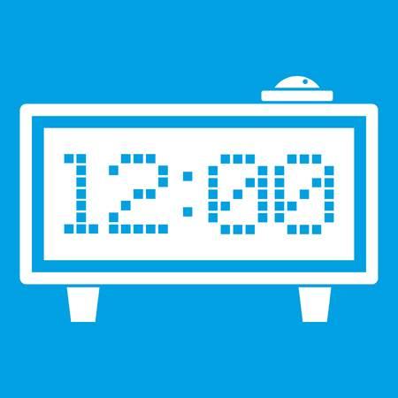 Alarm clock icon white