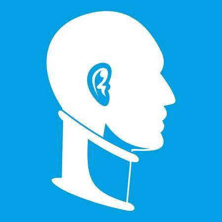 Cervical collar icon white