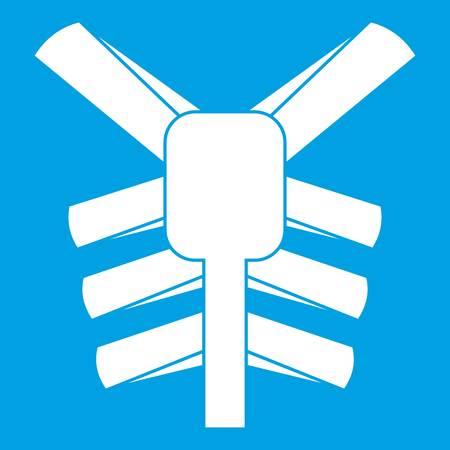 Human thorax icon white Illustration