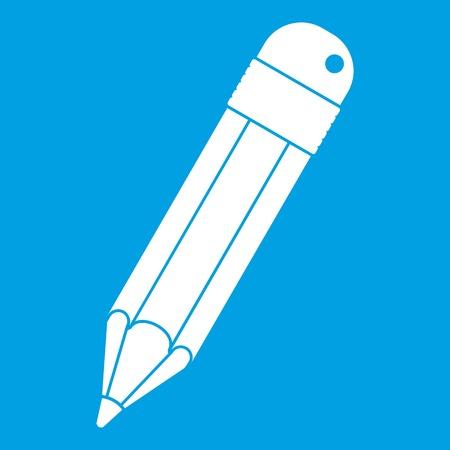Pencil icon white Illustration