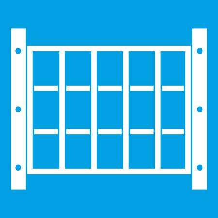 Yard hek pictogram wit Stock Illustratie