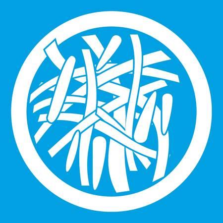 japanese ethnicity: Asian salad icon white Illustration