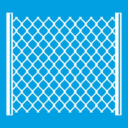 Perforated gate icon white