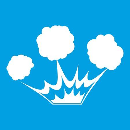 atomic bomb: Explosion icon white