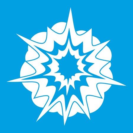 atomic bomb: Fire explosion icon white
