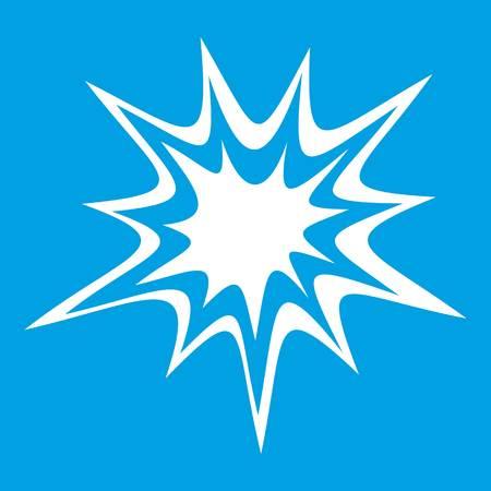 explosion lourde icône blanche