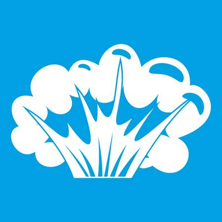atomic bomb: High powered explosion icon white