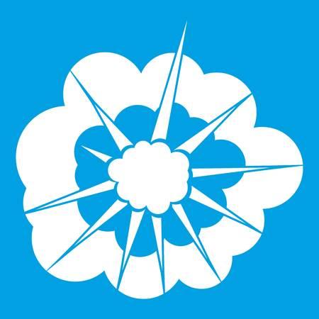 bombe atomique: Icône d'explosion nuageux blanc