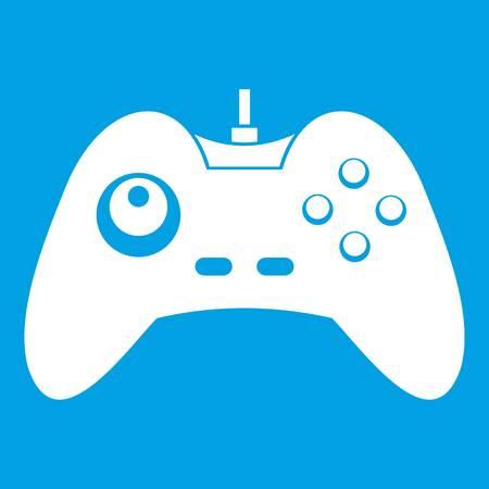 One joystick icon white Illustration