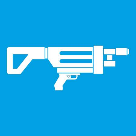 Game gun icon white