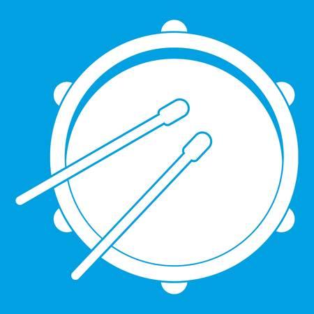rhythm rhythmic: Drum icon white