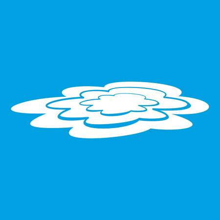 Water puddle icon white
