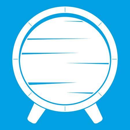 Barrel on legs icon white isolated on blue background vector illustration Illustration