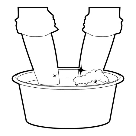 washbowl: Washing in the basin icon outline