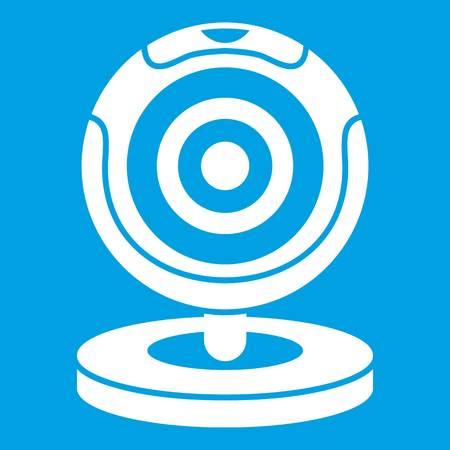 webcam: Webcam icon white