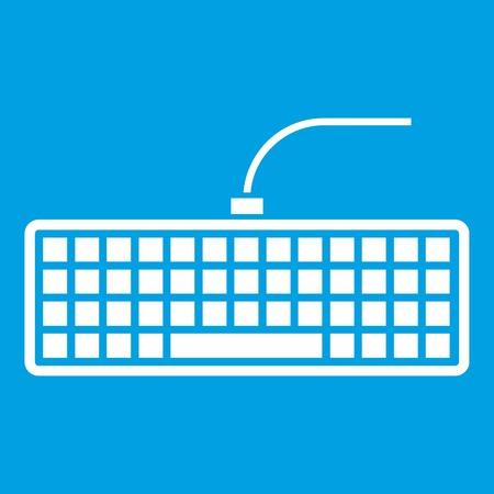 Icono de teclado de computadora negro blanco Foto de archivo - 82436814