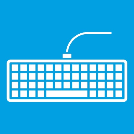 Black computer keyboard icon white