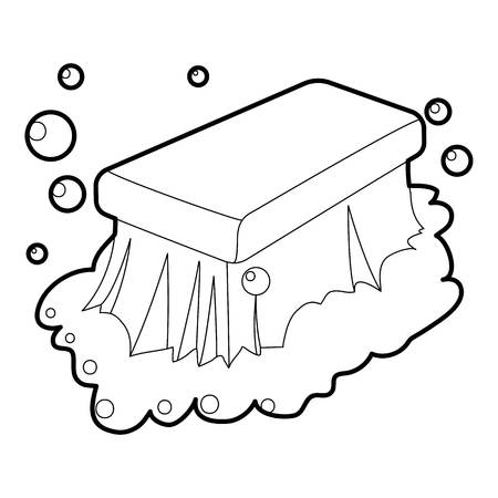 Wet cleaning icon outline