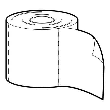 defecation: tissue icon in outline style isolated on white vector illustration Illustration