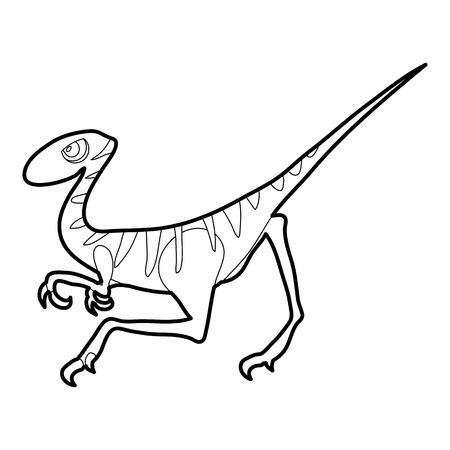 Velociraptor icon outline Illustration