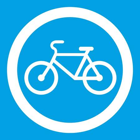 traffic pole: Travel by bicycle is prohibited traffic sign icon Illustration