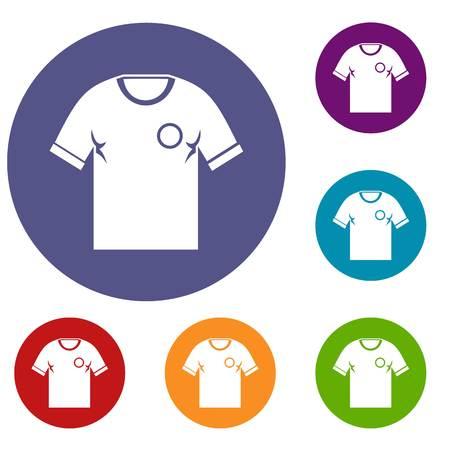 menswear: Soccer shirt icons set