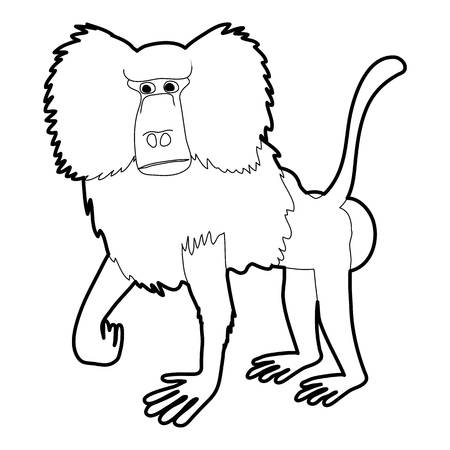 761 Baboon Face Stock Illustrations Cliparts And Royalty Free