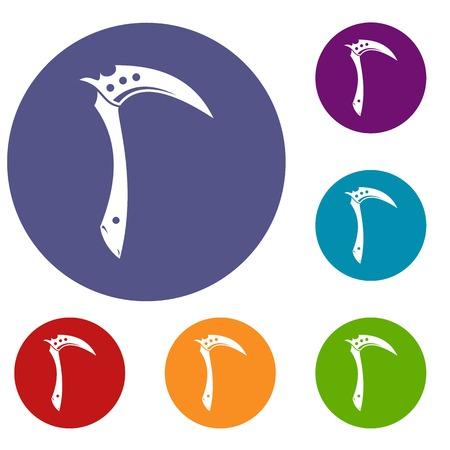kama: Kama weapon icons set