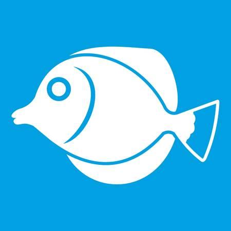 Tang fish, Zebrasoma flavescens icon white