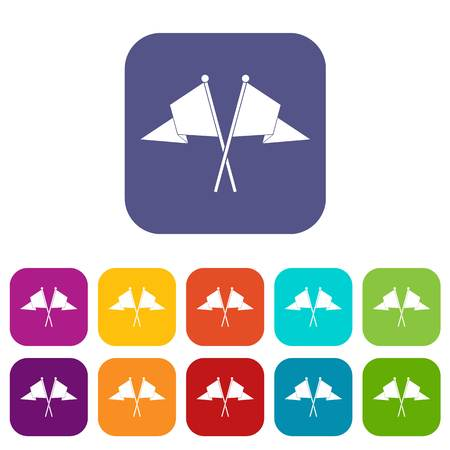 Two flags icons set