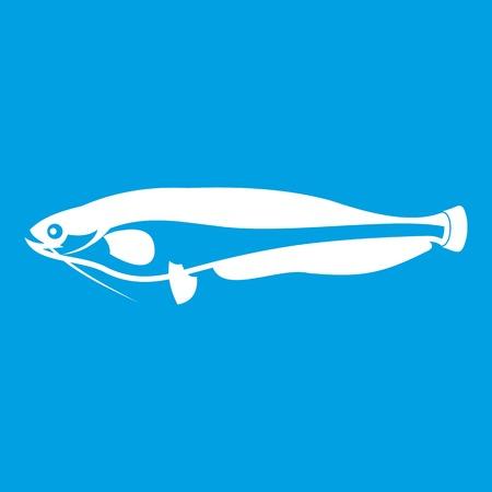 Atlantic mackerel, Scomber scombrus icon white