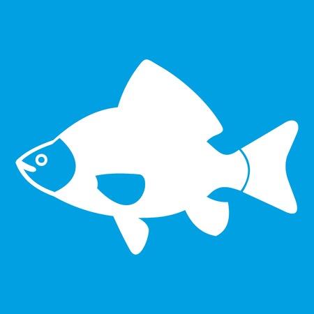Fish icon white Ilustração