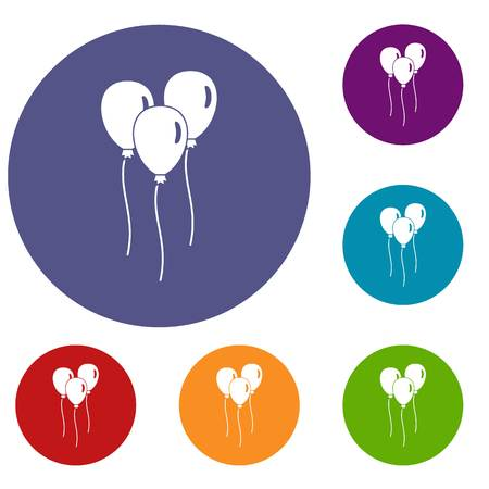 Balloons icons set