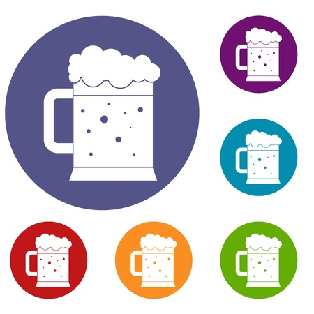 st: Beer mug icons set