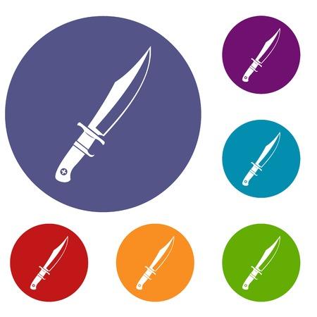 Dagger icons set