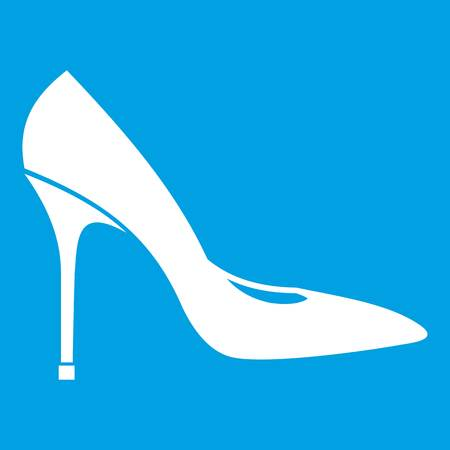 Women shoe with high heels icon white